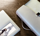 Woven Pearl Leather with Aperture and Case
